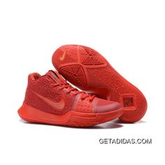 3cb88efca39c New Nike Kyrie 3 All Red Basketball Shoes Copuon Code