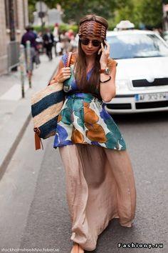 Miroslava duma. Long skirt patterned tunic  Le style boho-chic est en vogue cette saison! Retrouvez de beaux morceaux pour la maternité  l'allaitement sur notre boutique en ligne à www.berceau.ca