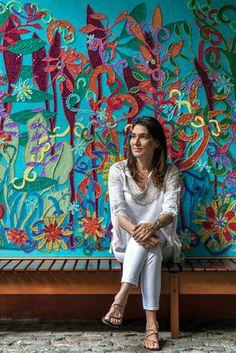 Mucki Skowronski #pinta_e_borda #Brasil #cultura #tecidos #artista