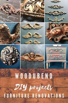 Diy Furniture Appliques, Wood Appliques, Diy Furniture Easy, Furniture Refinishing, Funky Furniture, Furniture Makeover, Painted Furniture, Decorative Corbels, Mannequin Art