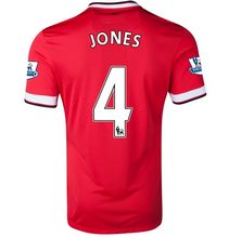 Manchester United 2014-15 Season JONES #4 HOME RED SOCCER JERSEY [21]