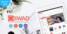 Experiencing a premium responsive opencart theme Oswad Market, user can build an online multi-store...