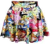 New skirt in the summer hot women   cat nana adventure time interesting Simpson pleated skirts and sizeXS-XL
