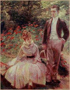 """Marie Bracquemond (French, 1841–1916) """"The Artist's Son and Sister in the Garden at Sevres"""", 1890"""