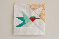Katrina's Hummingbird block by make_something, via Flickr