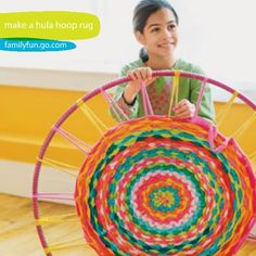 DIY FYI: Make a Hula Hoop Rug- maybe a rug for Chloe's room?