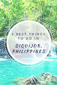 A travel blog post about 5 most interesting places to visit in Siquijor, Philippines