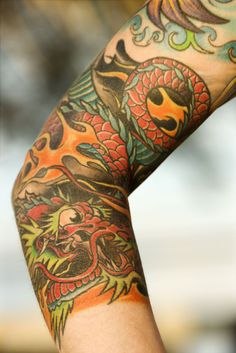 Wall graphic    Close up of dragon tattoo on arm of by ZoogSay, $15.00