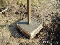 Каким способом установить столбы забора - строительство, установка столбов, опоры для забора