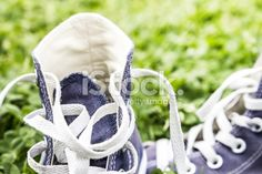 Sneakers detail Royalty Free Stock Photo