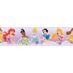 Adesivo Princesas Lilás Disney Faixa - Roommates - CasaTema