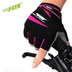 BATFOX sports mtb bicycle cycling bike gloves half finger gel bycicle glove accessories for men women