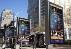 Outdoor posters at New York's Lincoln Centre.