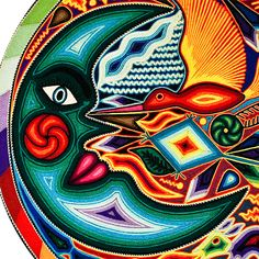 Huichol Yarn Art Collection - Huichol Yarn Painting - YP750