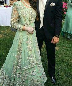 Haute spot for Indian Outfits. Asian Wedding Dress, Pakistani Wedding Outfits, Indian Bridal Outfits, Pakistani Bridal Dresses, Pakistani Wedding Dresses, Lehenga Choli, Anarkali, Green Lehenga, Sharara