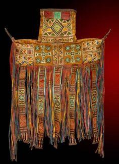 Africa | Camel Saddle Bag. Saddle Bag, mid 20th century.  Niger, Tuareg  Leather, paint, embroidery