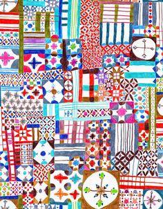 Imprimolandia: Dibujo de patchwork