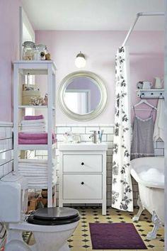 Ikea Bathroom, Bathroom Wall Decor, Bathroom Interior, Small Bathroom, Room Decor, Bathroom Ideas, White Bathroom, Kitchen Interior, Master Bathroom