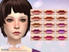 The Sims Resource: Lipgloss 5 by Aveira • Sims 4 Downloads