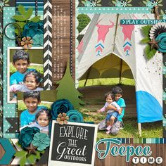 Cindy's Half Pack Template set #106 Great Outdoors: Explore by Kristin Cronin Barrow