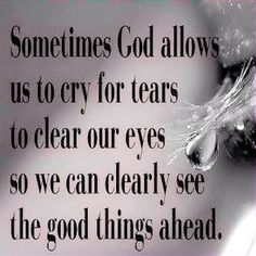 God allows tears