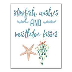 Starfish Wishes Canvas Art Print from Kirkland's Beach Christmas Trees, Coastal Christmas Decor, Nautical Christmas, Christmas Canvas, Christmas Love, Christmas Images, Christmas Signs, Christmas Projects, Christmas Decorations