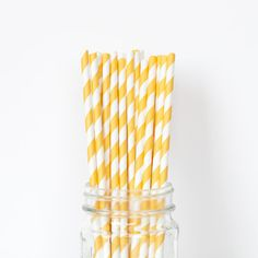 Yellow Striped Straw