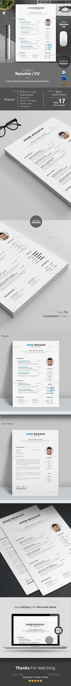 Blue And Black Resume  Skins  Clean Design