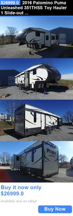 rvs: 2016 Palomino Puma Unleashed 351Thss Toy Hauler 1 Slide-Out ,Rv,Camper,5Th Wheel BUY IT NOW ONLY: $26999.0