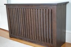 Dark Wood Radiator Cover - Cover up that old, ugly radiator! Safe, custom designed, available in several finishes and styles! Custom Closet Design, Custom Closets, Closet Designs, Custom Design, Old Radiators, Radiator Cover, Lounge Design, Design Consultant, Garage Storage