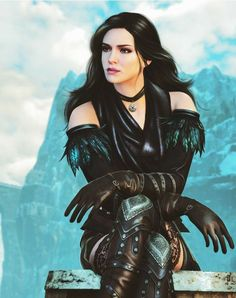 """""When I created Yennefer's character I wanted Geralt to fully grow, but then I decided to make things complicated. I created a female character who refuses to be a fantasy stereotype. Fantasy Girl, Fantasy Warrior, Fantasy Women, Fantasy Rpg, Medieval Fantasy, Witcher 3 Yennefer, Yennefer Cosplay, Yennefer Of Vengerberg, Witcher Art"