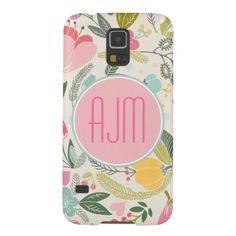 Preppy Pastel Floral Girly Pattern Galaxy S5 Covers  | Visit the Zazzle Site for More: http://www.zazzle.com/?rf=238228028496470081 [Referral Link]