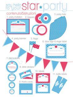 Ma Che Davvero?: Printable party supplies * Scaricabili per feste ed eventi - by machedavvero.it