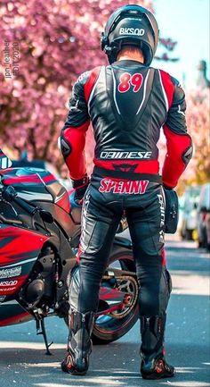 Motorcycle Suit, Motorcycle Leather, Biker Leather, Leather Men, Motorbike Leathers, Horse Riding Clothes, Biker Boys, Biker Gear, Mens Clothing Styles