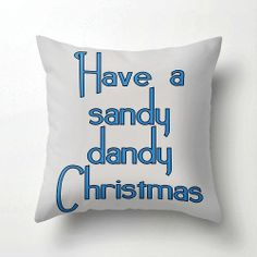 Christmas Beach  Pillow  Beach Decor  Beach Lover by VintageBeach, $38.00