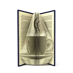 Book folding pattern  The cup of coffee  191 por SimplexBookFolding