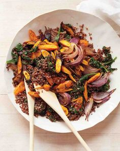 Roasted Carrots and Red Quinoa.  Martha Stewart