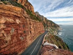 Chapmans peak, a spectacular road south of Cape Town, South Africa