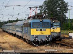 RailPictures.Net Photo: 1128 & 1096 Hungarian State Railways (MÁV) V43 at Sóstóhegy, Hungary by Tibor Csordás Train Journey, Bahn, Commercial Vehicle, Locomotive, Hungary, Fancy, Vehicles, Trains, Europe