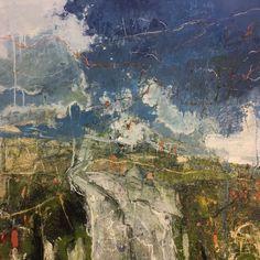 Footpath, Curbar Edge, 87x87cm, Oil & mixed media on canvas, £4,200