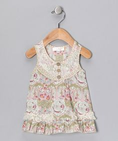 Take a look at this Pink Floral Tunic - Infant & Toddler by Baby Sara on #zulily today!