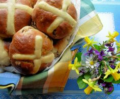# Easter Traditional Fruity And Spiced Hot Cross Buns: Bread-Maker Recipe - Food.com