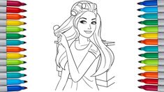 Barbie is a fashion doll manufactured by the American toy company Mattel, Inc. and launched in March Barbie has been an important part of the toy fashi. Barbie Coloring Pages, Coloring Pages For Kids, Rainbow Dash, Fashion Dolls, Barbie Dolls, Aurora Sleeping Beauty, Product Launch, Let It Be, Make It Yourself
