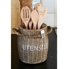 Rustic Rattan Utensils Pot - Servies & eetgerei | Rivièra Maison