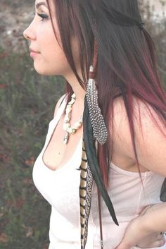 Owl Moon, Feather Hair Extension, Beautiful and Stunning Feather Headdress, Bohemian, Boho Chic,Tribal, Native, Indie, Nature Inspired - Looking for Hair Extensions to refresh your hair look instantly? http://www.hairextensionsale.com/?source=autopin-thnew
