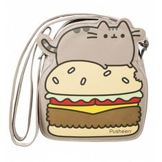 Pusheen the Cat Burger Cross-Body Bag Gato Pusheen, Pusheen Stuff, Pusheen Shop, Crossbody Shoulder Bag, Crossbody Bag, Shoulder Bags, Looks Kawaii, Kawaii Style, Backpack Purse