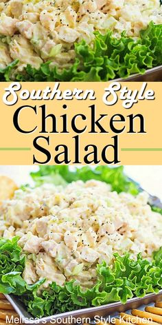 Enjoy Southern Style Chicken Salad as a sandwich, on lettuce wraps or between meal snacking Green Veggies, Fruits And Veggies, Melissas Southern Style Kitchen, Chicken Salad Recipes, Chicken Salads, Chicken Salad With Eggs, Chicken Potato Salad, Rotisserie Chicken Salad, Chicken Pasta