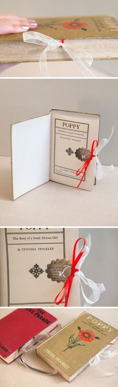 DIY Ring Bearer Book - ensure way to secure book closed to prevent any mishaps