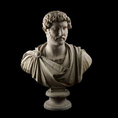 Tivoli: Marble bust of the emperor Hadrian wearing military dress From Hadrian's Villa, Tivoli, Lazio, Italy AD 117-118 The British Museum This portrait bust was found at the Villa Adriana, the Roman emperor Hadrian's magnificent country residence near Tivoli, outside Rome. >> Scopri le Offerte! im getting a replica of this when im rich because hadrian is the coolest guy ever.