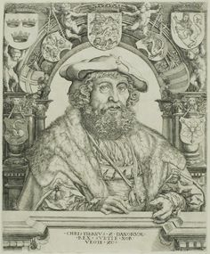 about 1529 Jacob Binck (German, c. 1500-1569) after Jan Gossaert (Flemish, 1478-1532) King Christian II of Denmark | The Art Institute of Chicago